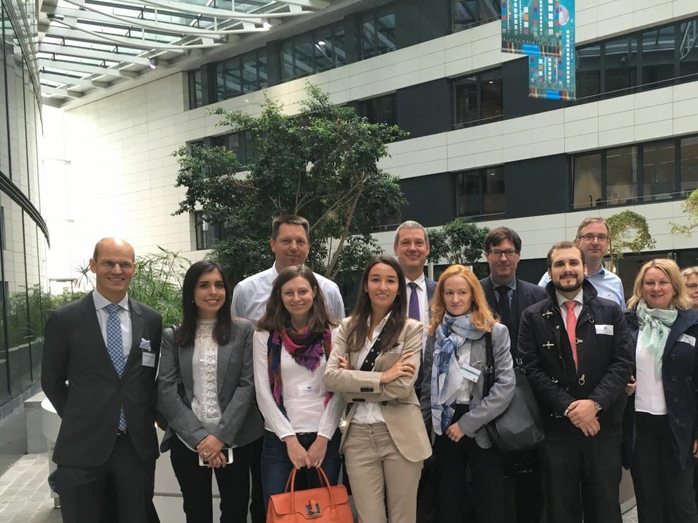 Miembros del consorcio durante la erunión de lanzamiento en Bruselas en septiembre de 2017.