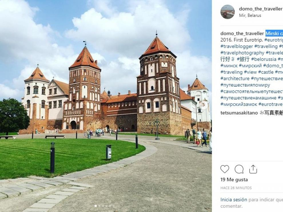 El Palacio de Mir, en la ciudad homónima bielorrusa.