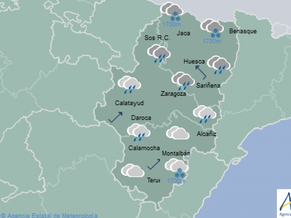 El tiempo en Aragón el 31 de octubre.