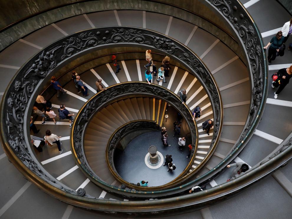Escalera de los museos vaticanos