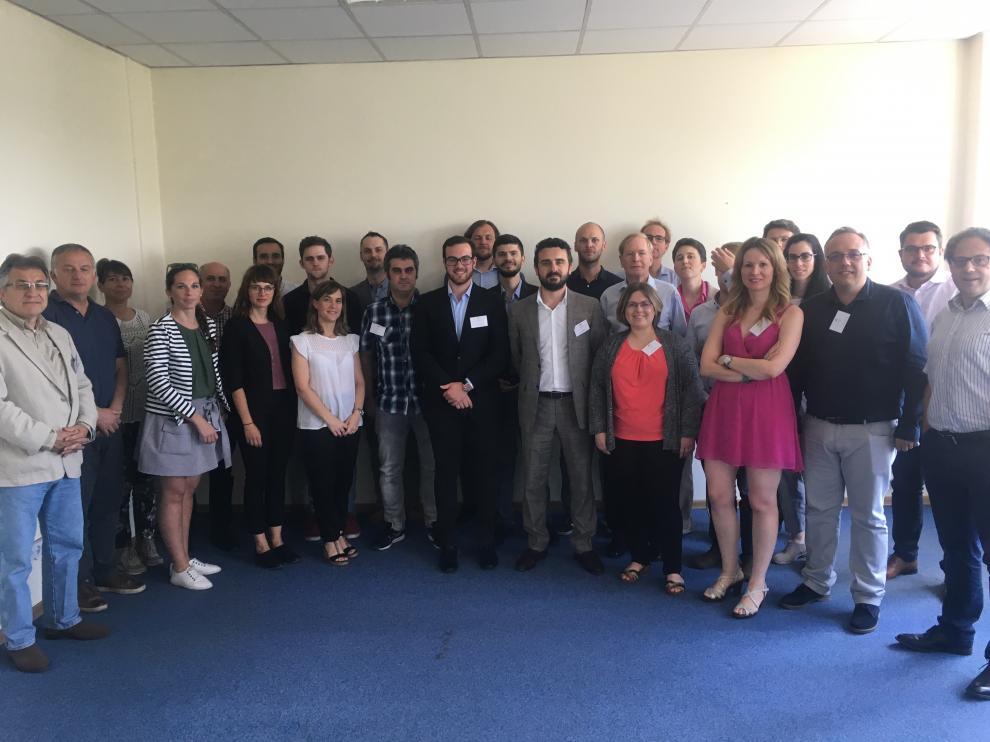 Reunión del consorcio de Vulkano en las instalaciones de IEn en Varsovia, el pasado julio.