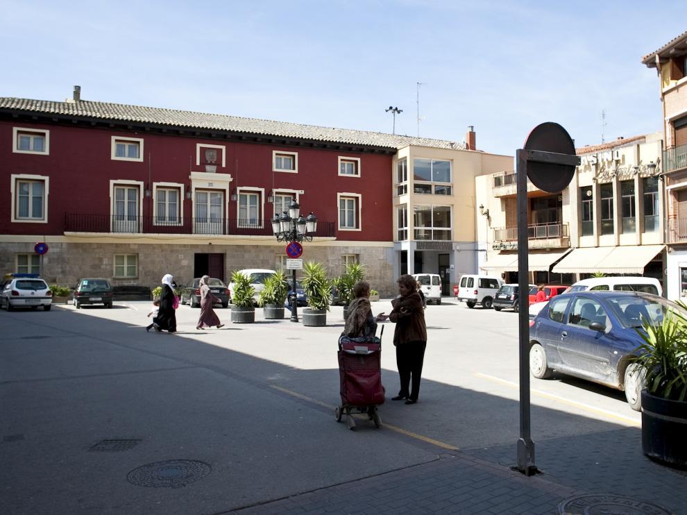 Imagen de archivo de la fachada del ayuntamiento de Mallén.