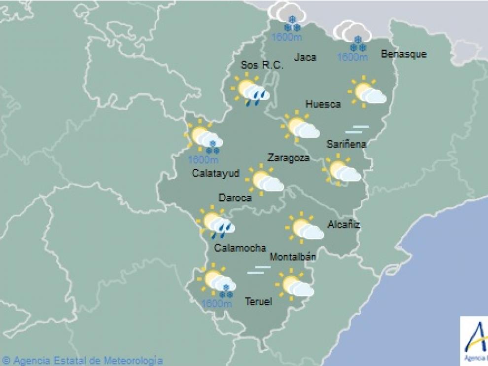 El tiempo en Aragón este viernes 2 de noviembre.