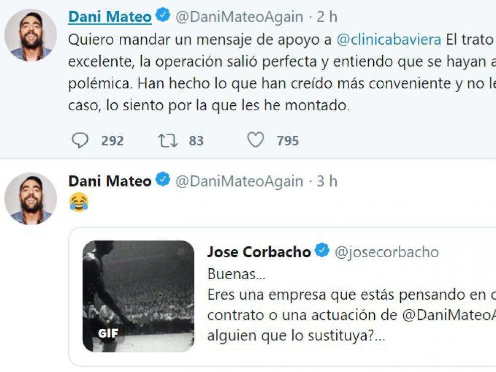"""Dani Mateo vuelve a Twitter y pide disculpas a la  Clínica Baviera """"por la que les he montado"""""""