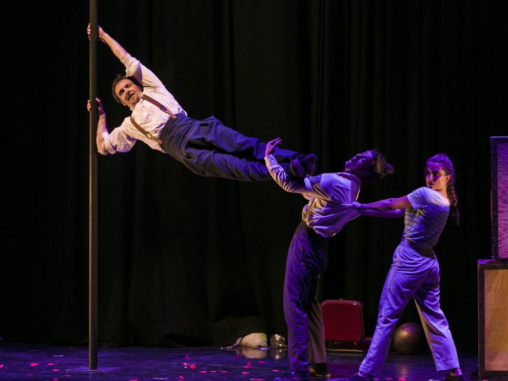 D'Click llevaron su espectáculo 'La isla' al Festival de Circo de Zaragoza