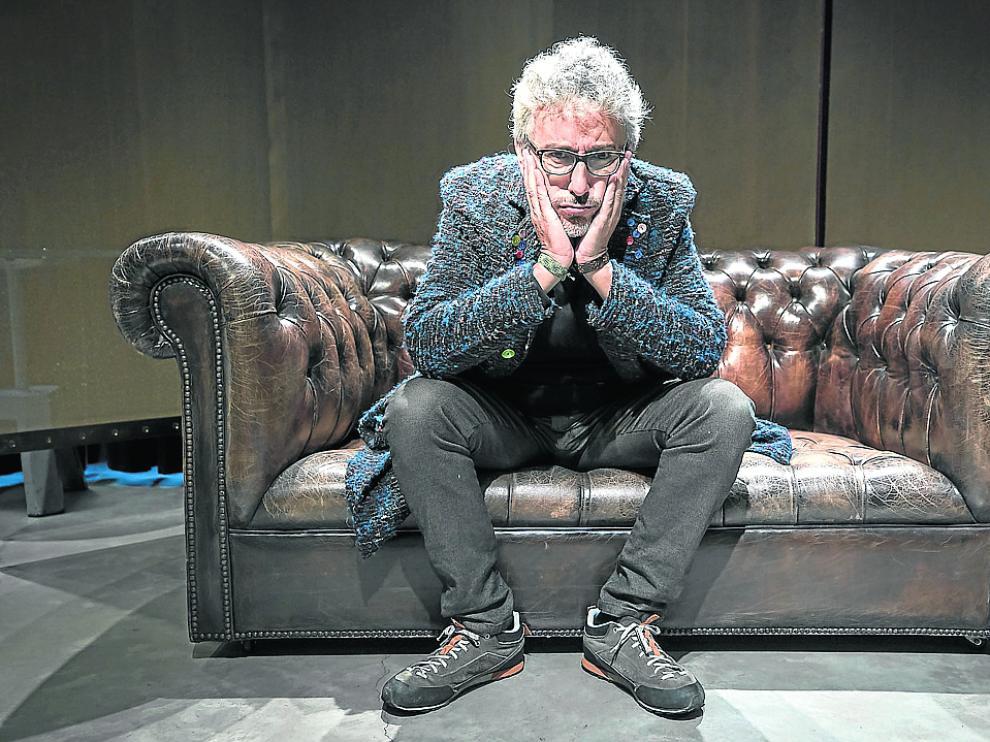 David Fernández, ayer, en el Espacio Ambar, antes de la presentación de Zaragoza Comedy.