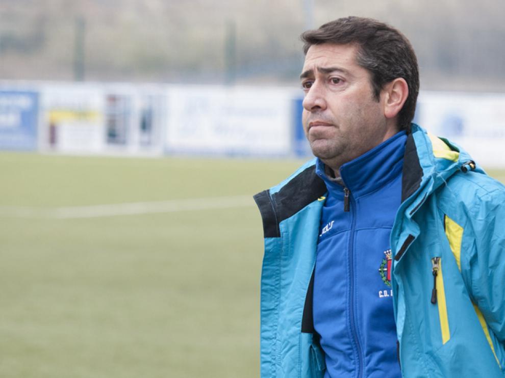 Davir 'Pitu' Lerga, entrenador del Belchite 97 de Tercera División