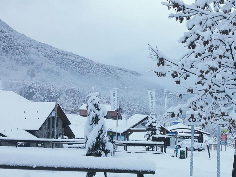 Estación de esquí de Cerler (Aramón) la semana pasada.