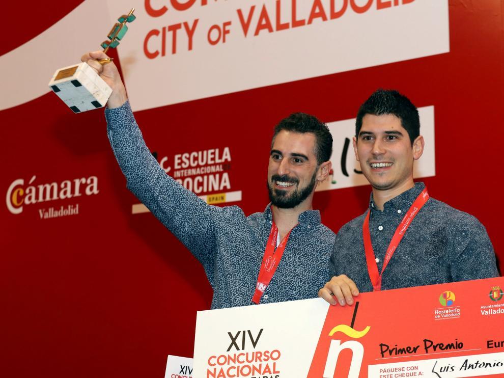 Luis Antonio Carcas y su hermano Javier, flamantes ganadores este miércoles en Valladolid.