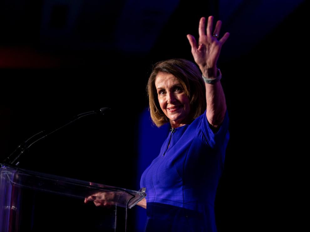 La demócrata Nancy Pelosi, triunfadora de las elecciones al Congreso