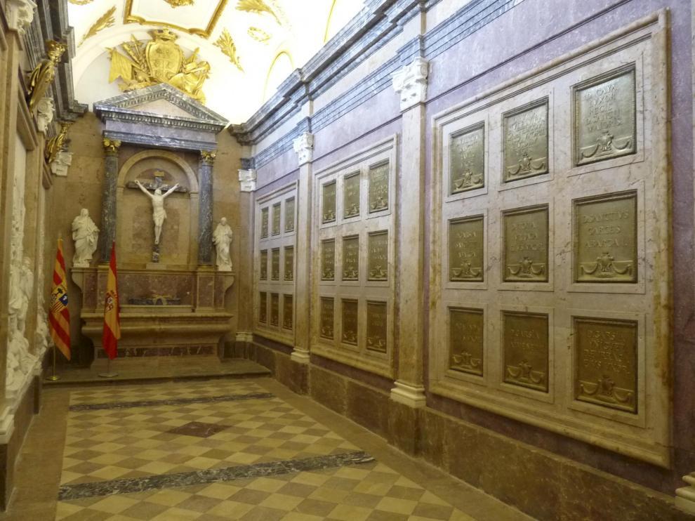 El panteón real del Monasterio de San Juan de la Peña.