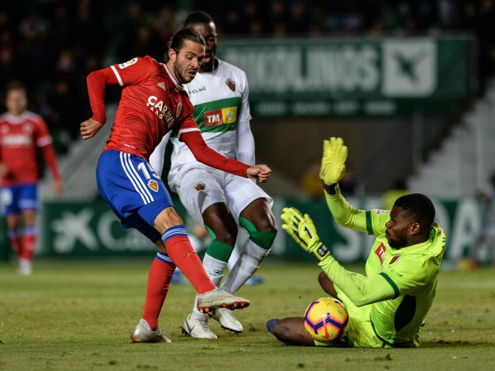 Buff, en el Elche-Real Zaragoza.