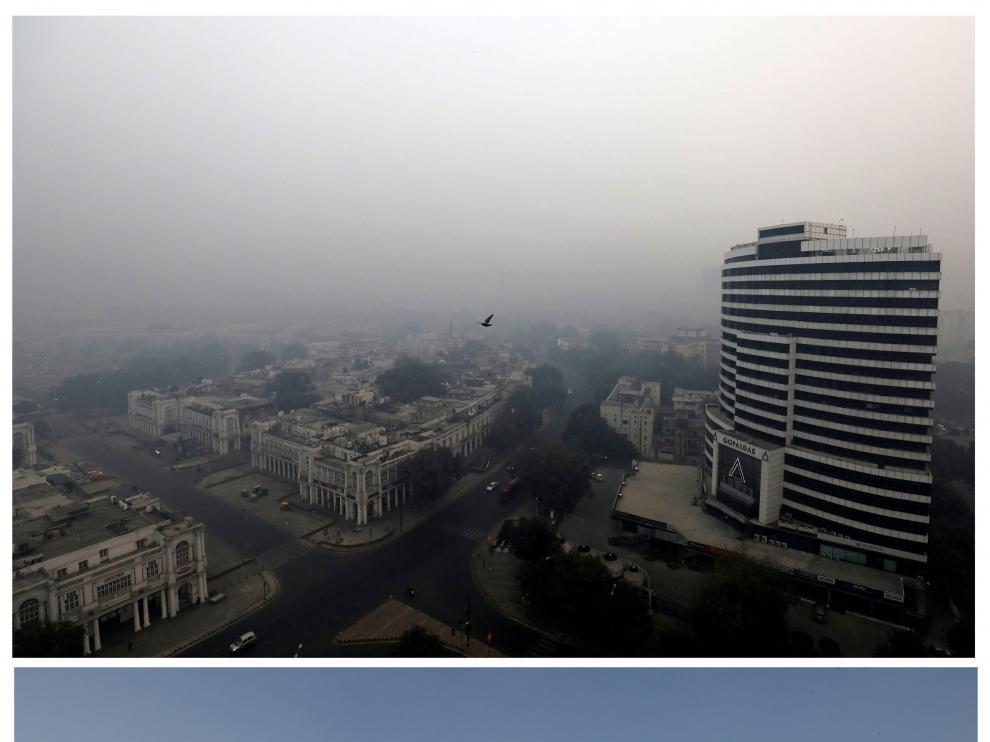 Contaminación en Nueva Delhi.
