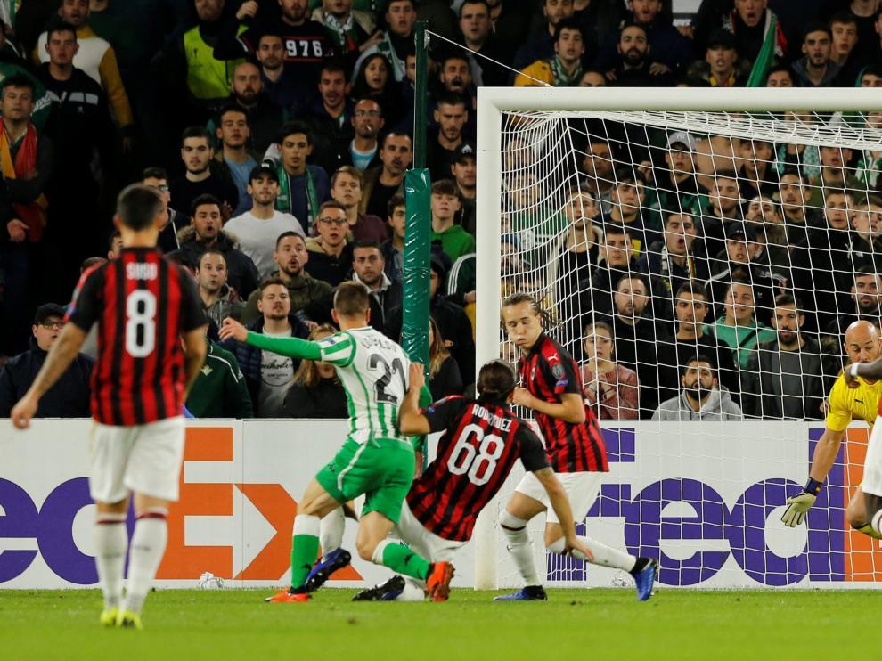 El Real Betis empató 1-1 contra el AC Milan.