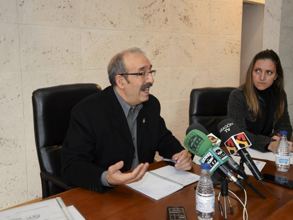 Manuel Rando, con Silvia Lario, dimitida anteriormente.