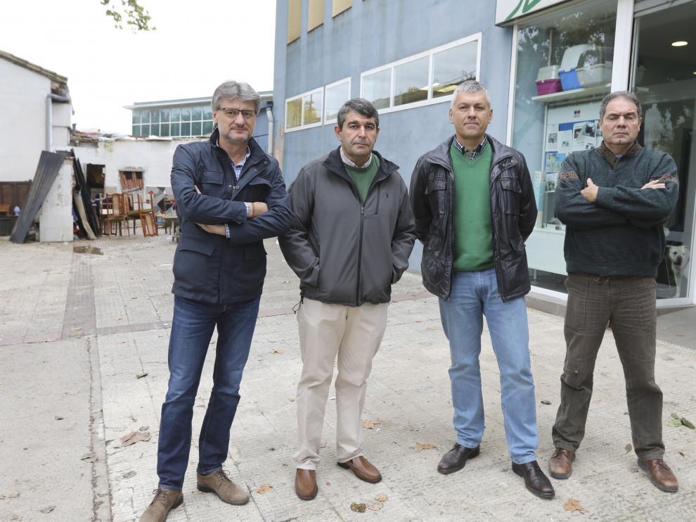 Los cuatro presidentes de las asociaciones de polígonos