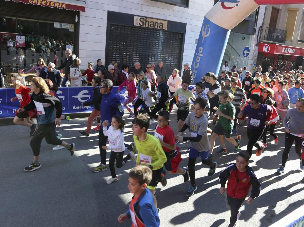 Salida de la edición de 2017 de la Carrera Popular Ibercaja de Huesca
