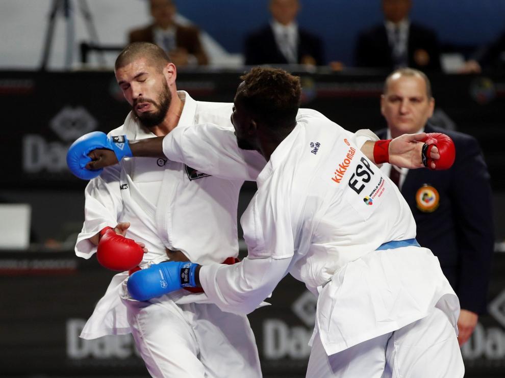 El zaragozano Babacar Seck logra el bronce en el Mundial de kárate
