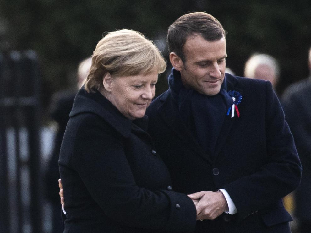 Macron y Merkel simbolizan la reconciliación histórica entre