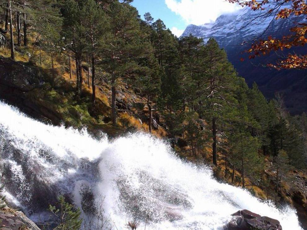 Una imagen del valle de Pineta el mes de noviembre.