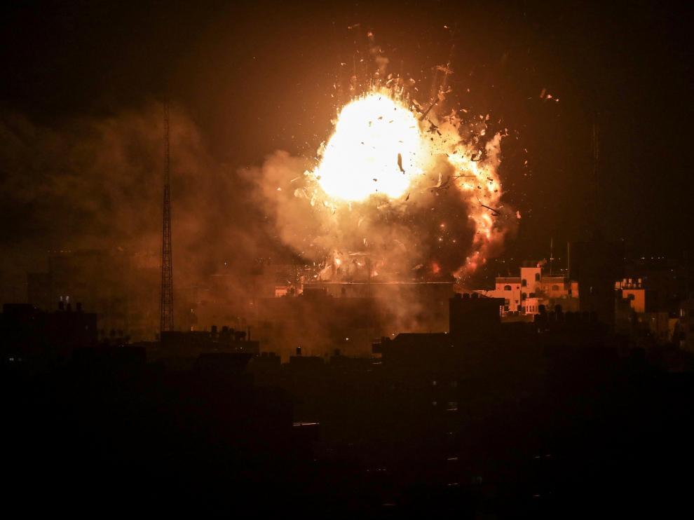 Al menos siete combatientes murieron en Gaza por ataques aéreos islaelíes.