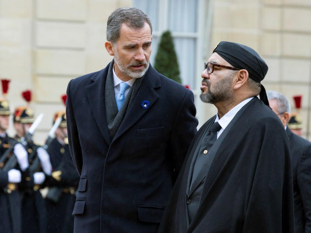 Felipe VI y el rey de Marruecos, Mohammed VI.