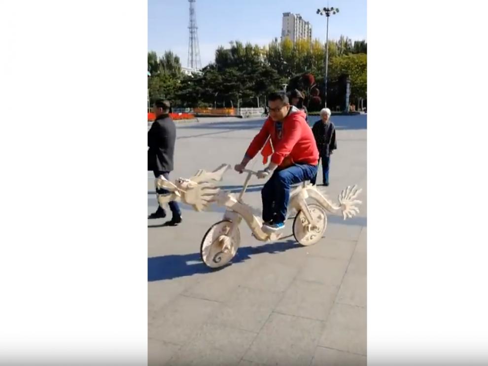 Imagen de la bicicleta obtenida de Youtube.