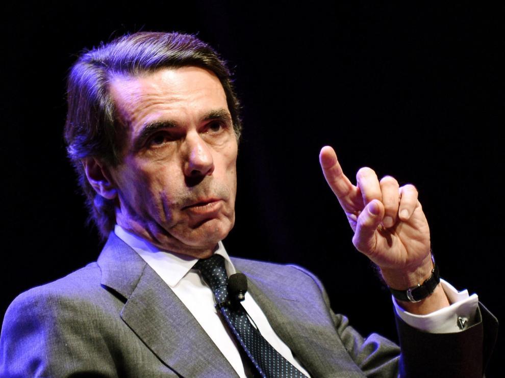 José María Aznar durante la conferencia ofrecida este martes por la tarde en Valladolid sobre el futuro de España.