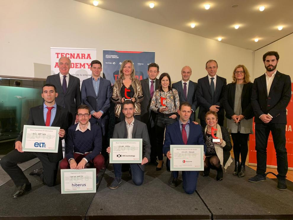 Foto de los galardonados en 'Vive Tecnara'