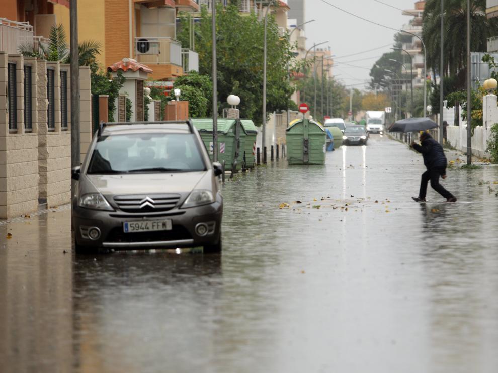 Intensas lluvias en el litoral mediterráneo