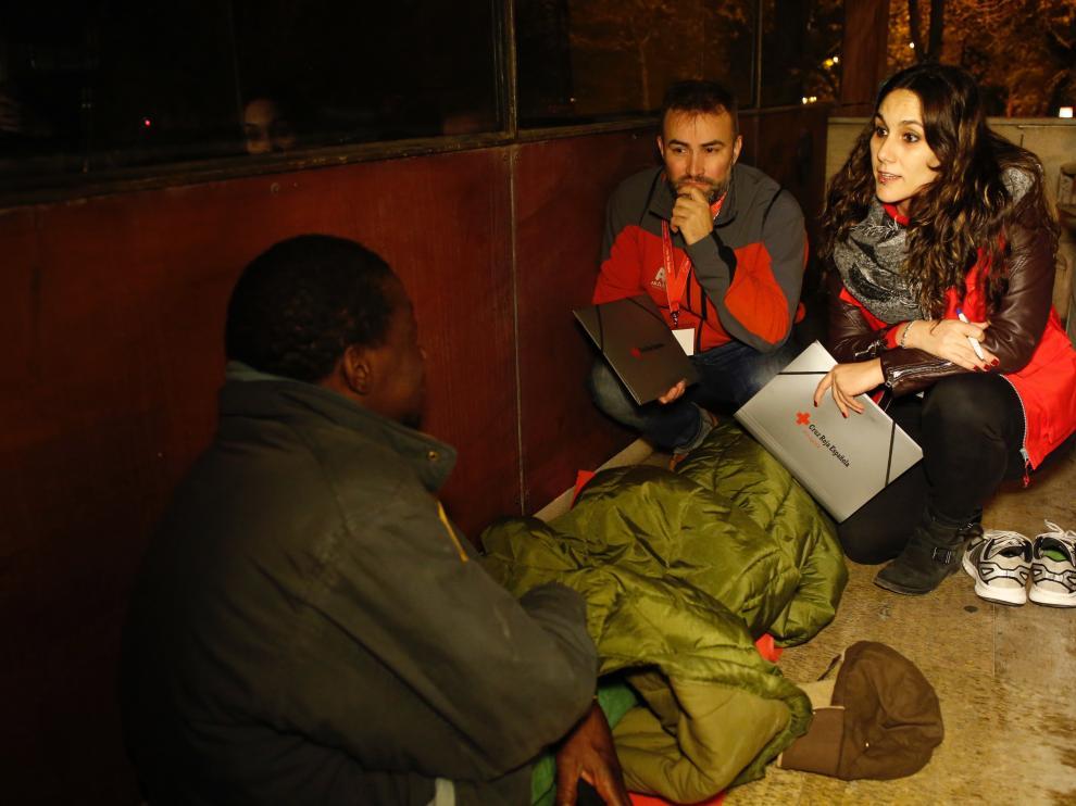 V Censo de personas sin hogar de la Cruz Roja en Zaragoza.