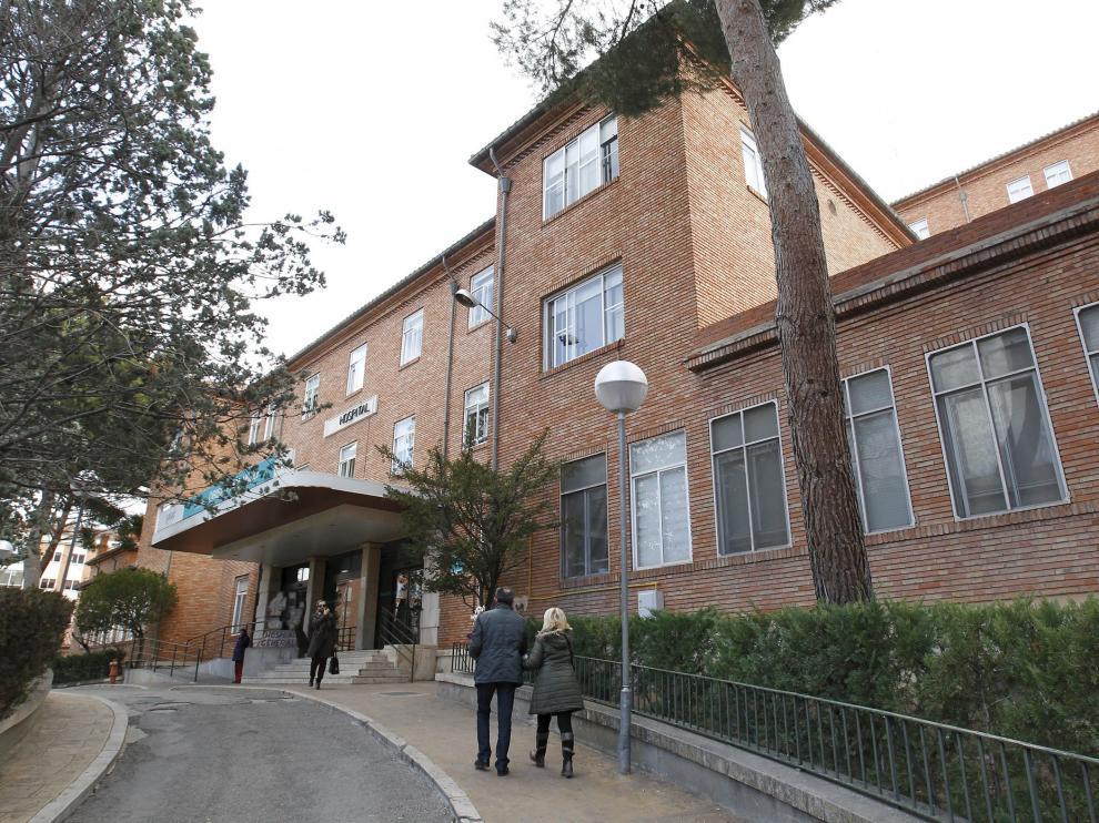 Entrada principal al hospital Obispo Polanco de Teruel