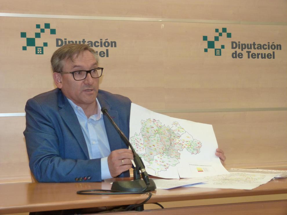 El presidente del PP de Teruel, Joaquín Juste.