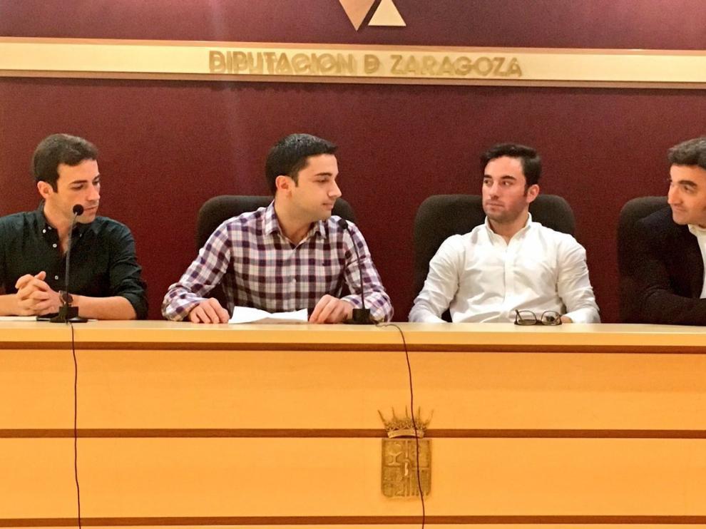 Miguel Cuertero, Javier Clavero, Imanol Sánchez y Juan Iranzo, en la conferencia.