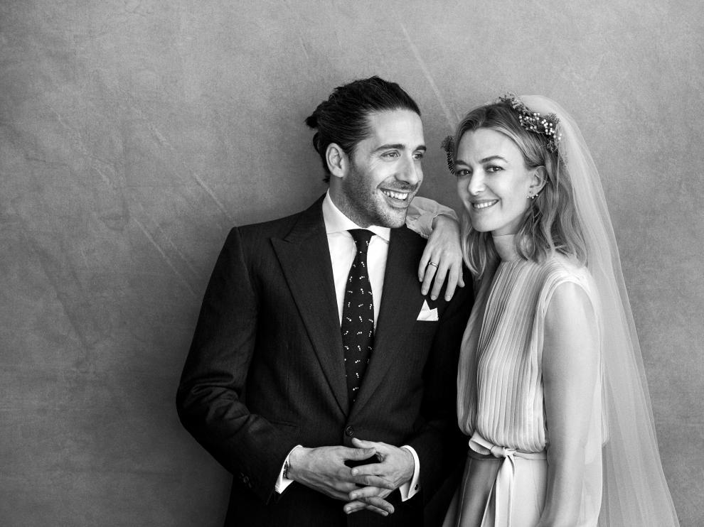 Carlos Torretta y Marta Ortega, en su fotografía oficial de boda.