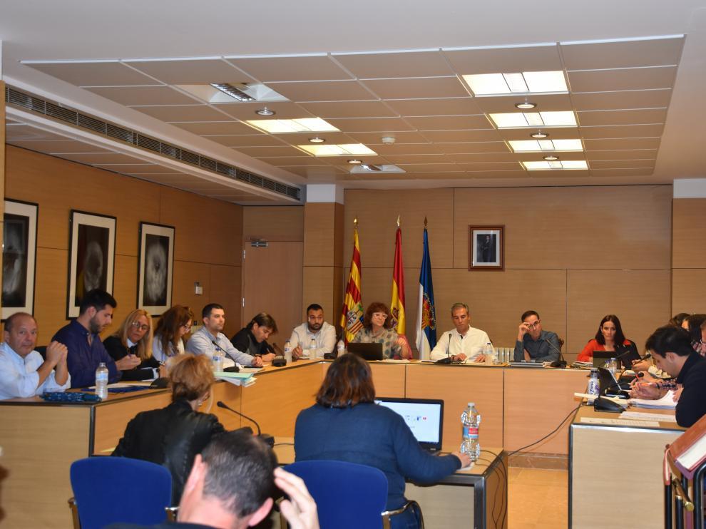Imagen de un pleno del Ayuntamiento de Utebo.