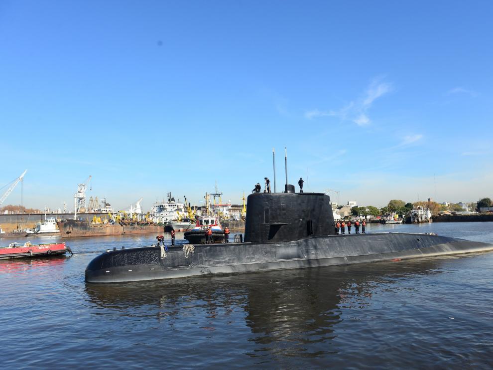 Fotografía facilitada por la armada argentina del submarino Ara San Juan.