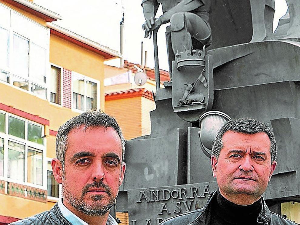 El presidente de los empresarios de Andorra, Roberto Miguel, y el alcalde de Ariño, Joaquín Noé
