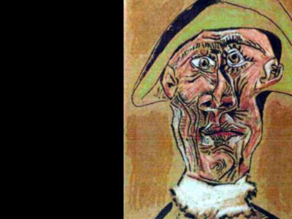 Una imagen del lienzo robado, 'Cabeza de Arlequín', de Picasso.