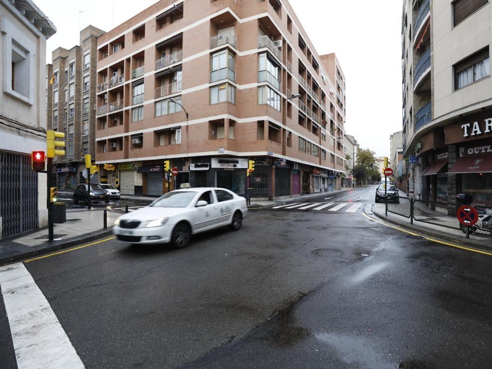 Confluencia de la calle Princesa con Cortes de Aragón