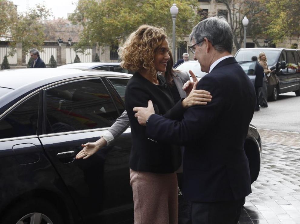 La ministra de Política Territorial, Meritxell Batet, y el consejero Vicente Guillén