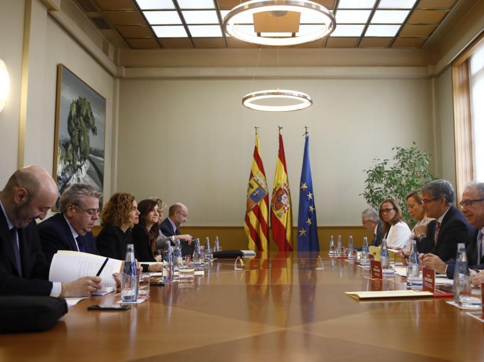 Reunión bilateral Aragón-Estado