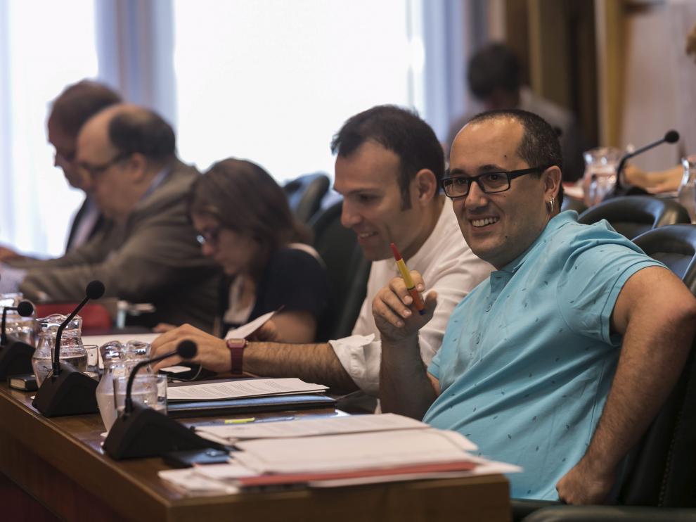 El concejal Cubero, en un pleno municipal el pasado mes de junio