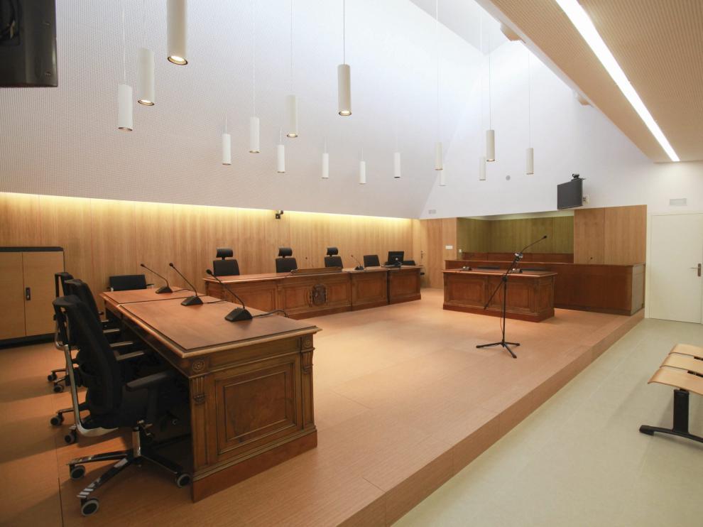 Sala de vistas de la Audiencia Provincial de Huesca