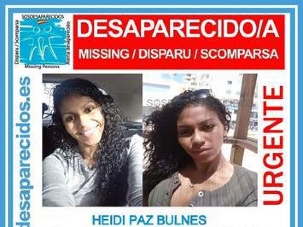 Fotos de Heidi Paz que publicó SOS desaparecidos cuando se perdió la pista de la joven de 25 años.