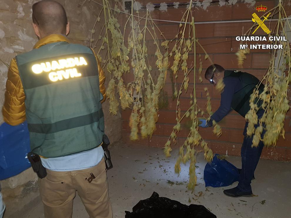 La Guardia Civil desarticula un punto de venta de droga en la comarca del Matarraña