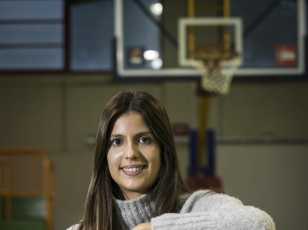Carolina Esparcia, en el pabellón Eduardo Lastrada.