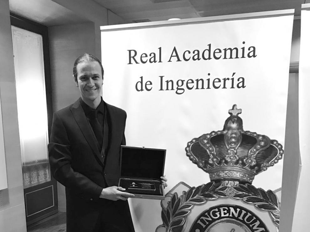 El ingeniero aragonés galardonado David Gascón, de Libelium
