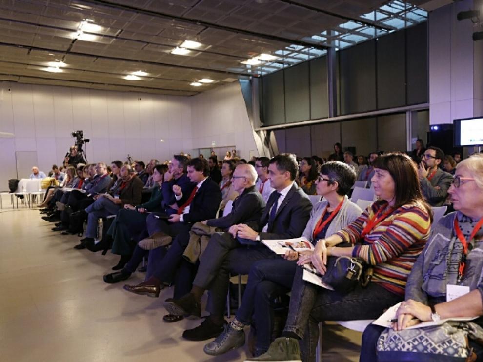 Los ponentes del Congreso de Gastronomía y Salud en primera fila en el acto inaugural.