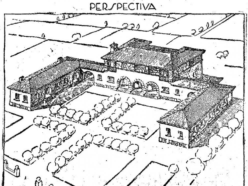 La Granja de Almudévar, otro bien catalogado que sigue en la Lista Roja de Patrimonio